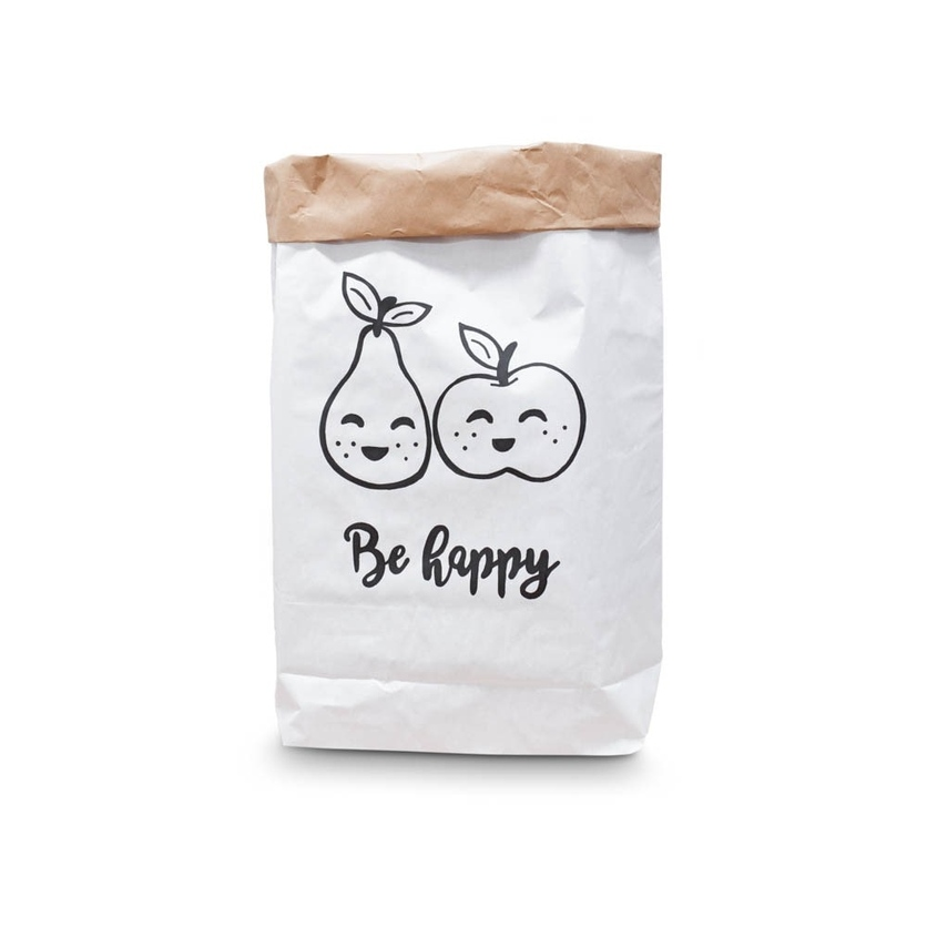 Papierowy worek na zabawki Be Happy dla dzieci