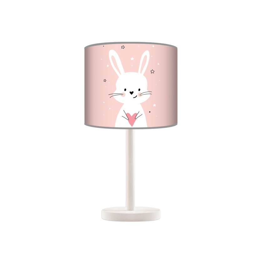 Lampka nocna dla dziewczynki różowy Króliczek do pokoju dziecięcego