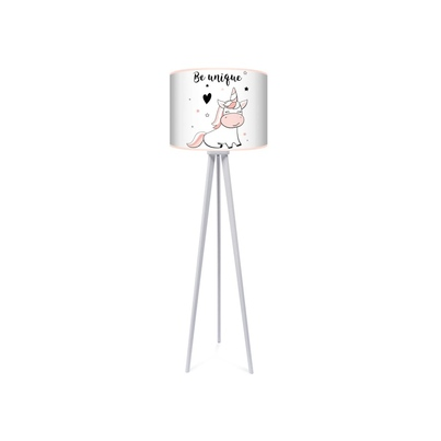 Lampa podłogowa trójnóg do pokoju dziecięcego jednorożec Unicorn