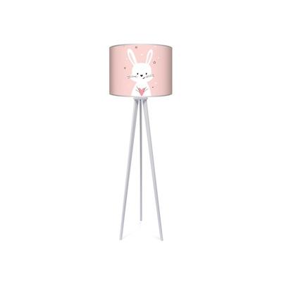 Lampa podłogowa dla dziewczynki trójnóg różowy Królik