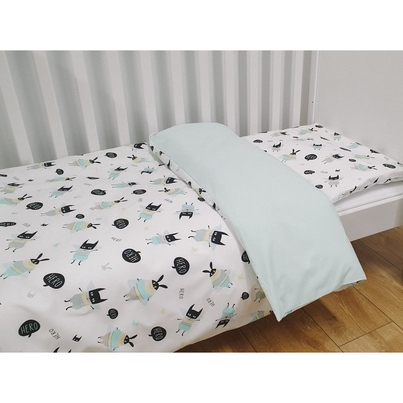 Bawełniana Pościel dziecięca do łóżeczka Hero 90x120 dla chłopca