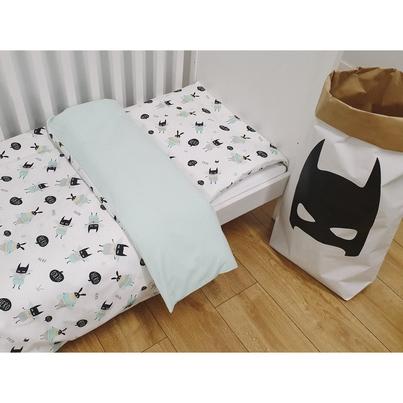 Bawełniana Pościel dziecięca do łóżeczka Hero 140x200 dla chłopca