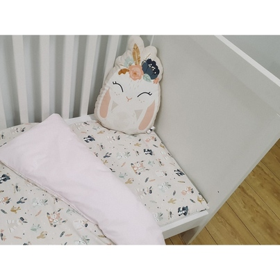 Bawełniana Pościel dziecięca do łóżeczka Bohemian Friends 100x135 dla dziewczynki