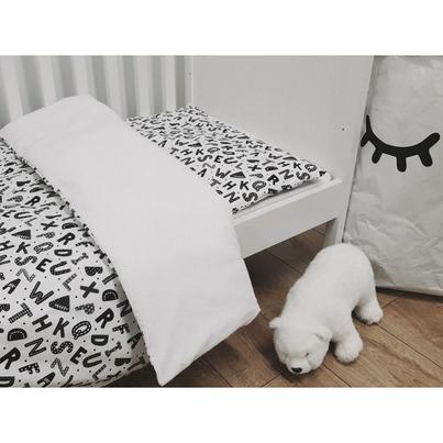 Bawełniana Pościel dziecięca do łóżeczka Alfabet 90x120 dla chłopca