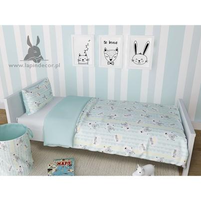 Bawełniana Pościel dziecięca do łóżeczka Przytul Misia 90x120