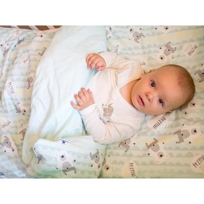 Bawełniana Pościel dziecięca do łóżeczka Przytul Misia 100x135 dla chłopca
