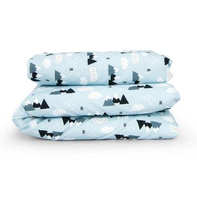 Bawełniana Pościel dziecięca do łóżeczka Mountain 90x120 dla chłopca