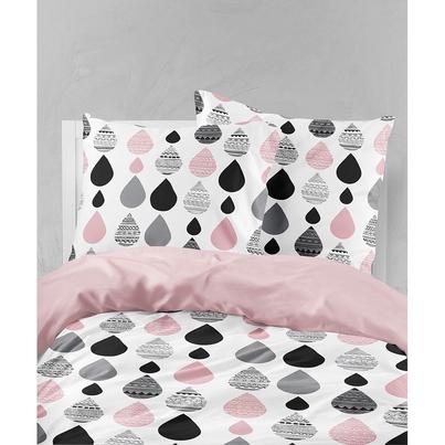Bawełniana Pościel dziecięca do łóżeczka Krople I 140x200 dla dziewczynki