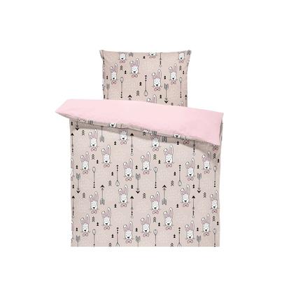 Bawełniana Pościel dziecięca do łóżeczka Króliki 100x135 dla dziewczynki