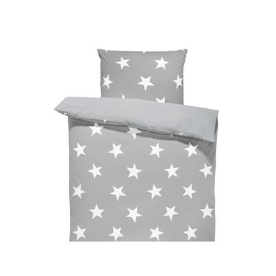 Bawełniana Pościel dziecięca do łóżeczka Białe Gwiazdki - Big Stars II 140x200 dla chłopca