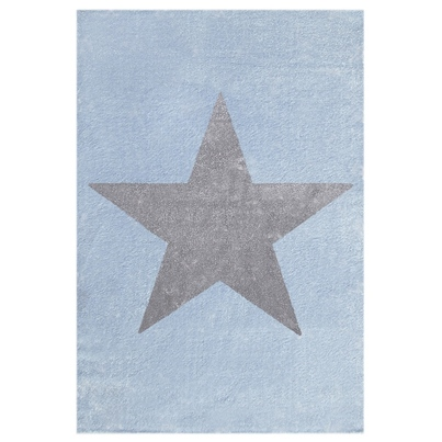 Dywan dziecięcy 120x180cm - Star Gray/Niebieski do pokoju dziecięcego