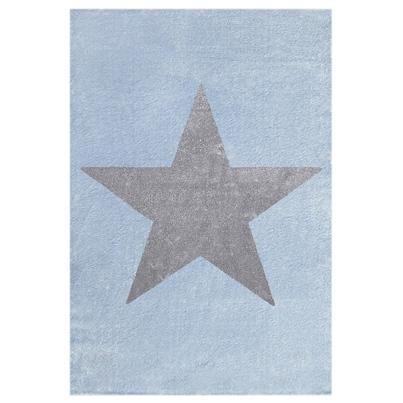 Dywan dziecięcy 160x230cm - Star Gray/Niebieski do pokoju dziecięcego