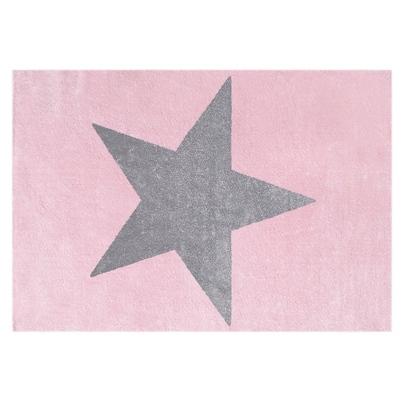 Dywan dziecięcy 120x180cm - Star Gray/Różowy do pokoju dziecięcego
