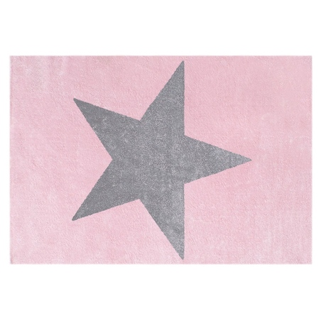 Dywan dziecięcy 120x180 - STAR Gray/Pink
