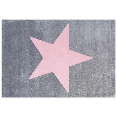 Dywan dziecięcy 160x230cm - Star Pink/Szary do pokoju dziecięcego