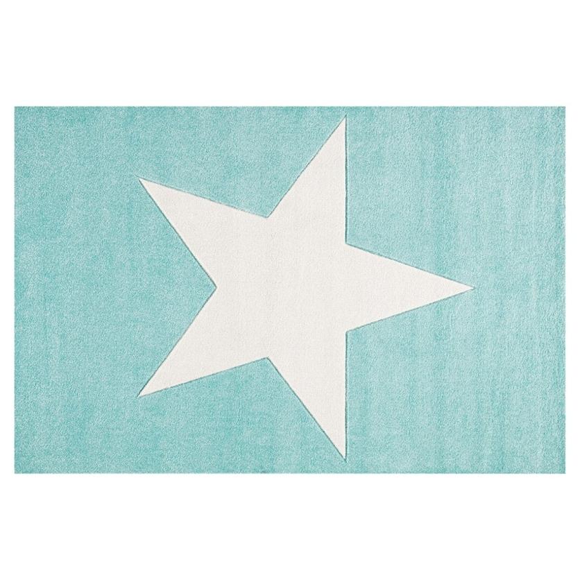 Dywan dziecięcy 160x230cm - Star Cream/Miętowy do pokoju dziecięcego