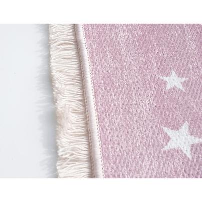 Dywan dziecięcy 140x190cm - Księżyc - Różowy do pokoju dziecięcego do pokoju dziecięcego