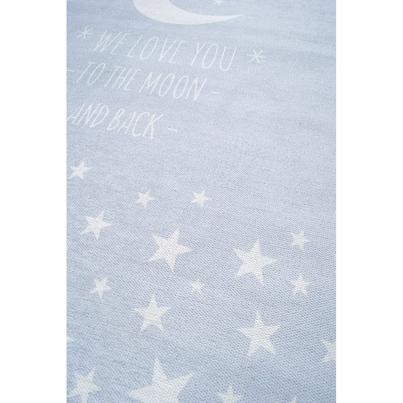 Dywan dziecięcy 140x190cm - Księżyc - Błękitny do pokoju dziecięcego do pokoju dziecięcego