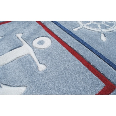 Dywan dziecięcy 160x230cm - Ster z kotwicą dla chłopca