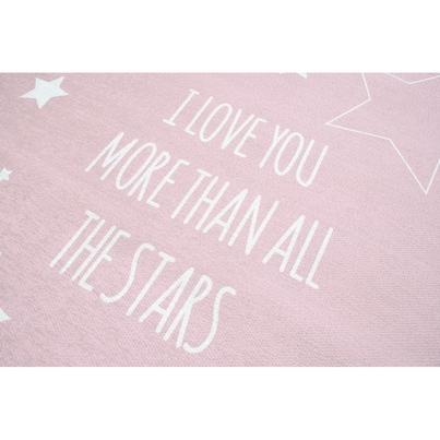 Dywan dziecięcy 140x190cm - Gwiazdki na niebie - Różowy do pokoju dziecięcego