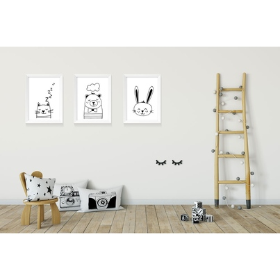 """Plakat/Obrazek dla dzieci """"Króliczek"""" 50x70cm do pokoju dziecięcego"""