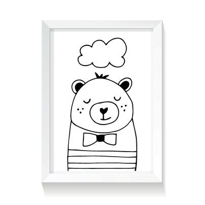 """Plakat/Obrazek dla dzieci """"Misio"""" 50x70cm do pokoju dziecięcego"""