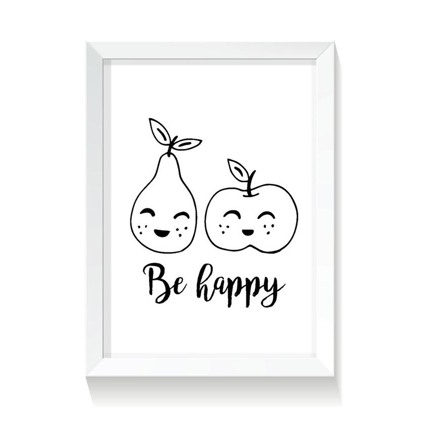 """Plakat/Obrazek dla dzieci """"Owoce"""" 50x70cm do pokoju dziecięcego"""