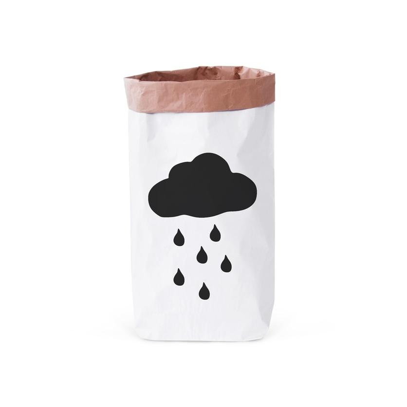 Papierowy worek na zabawki Deszczowa Chmurka 100x60cm dla dzieci