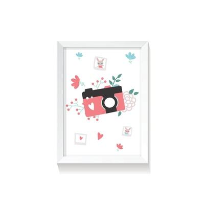 """Plakat na ścianę dla dzieci """"Polaroid I Rabbit Girl"""" 30x40cm do pokoju dziecięcego"""