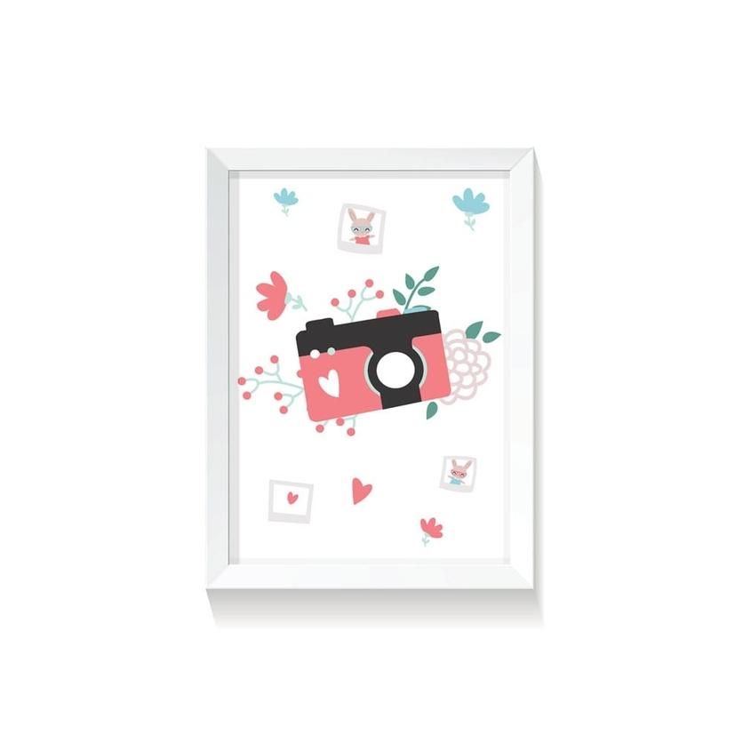 """Plakat na ścianę dla dzieci """"Polaroid I Rabbit Girl"""" 50x70cm do pokoju dziecięcego"""