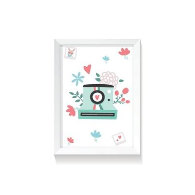 """Plakat na ścianę dla dzieci """"Polaroid II Rabbit Girl"""" 20x30cm do pokoju dziecięcego"""