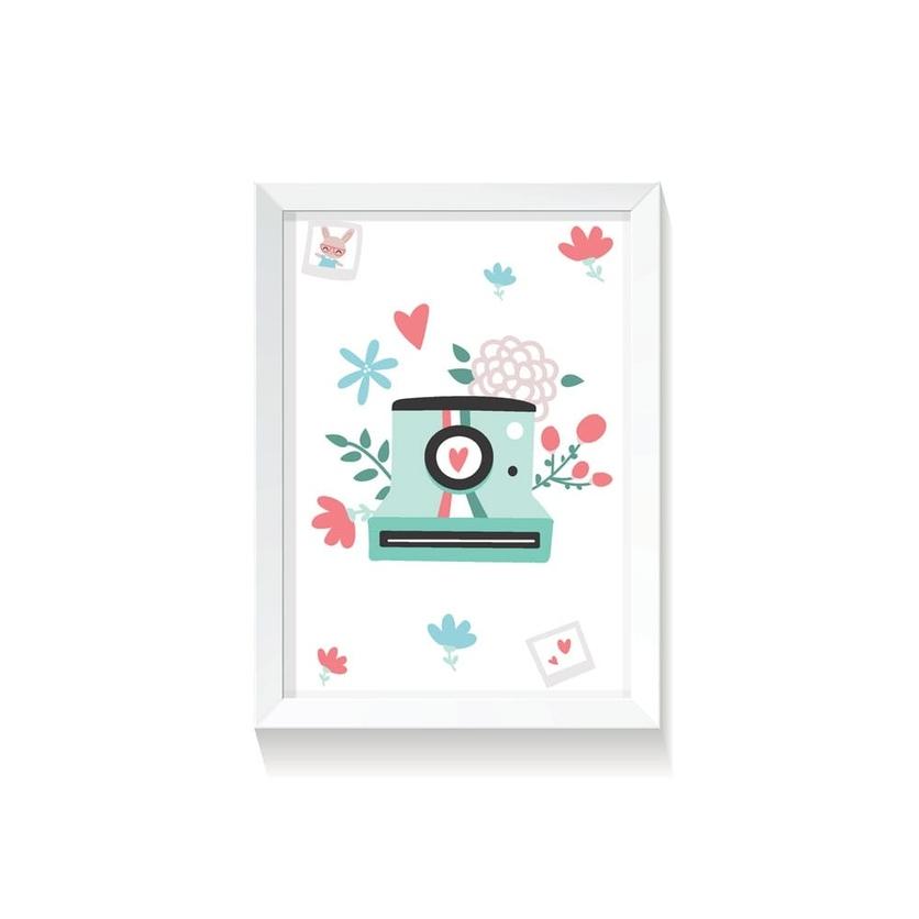 """Plakat na ścianę dla dzieci """"Polaroid II Rabbit Girl"""" 50x70cm do pokoju dziecięcego"""