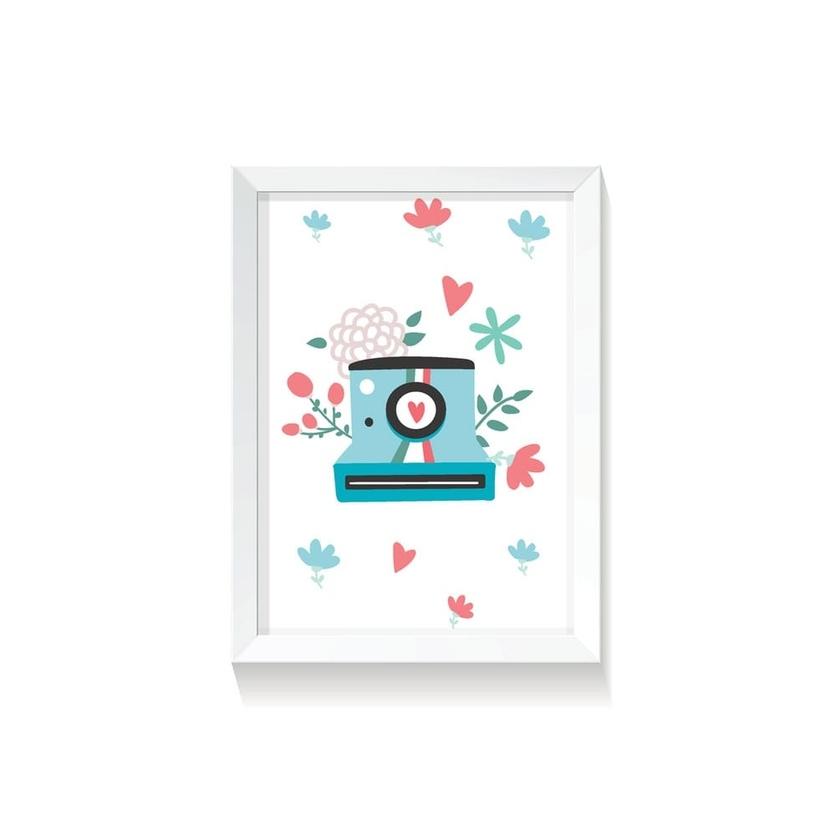 """Plakat na ścianę dla dzieci """"Polaroid III Rabbit Girl"""" 30x40cm do pokoju dziecięcego"""