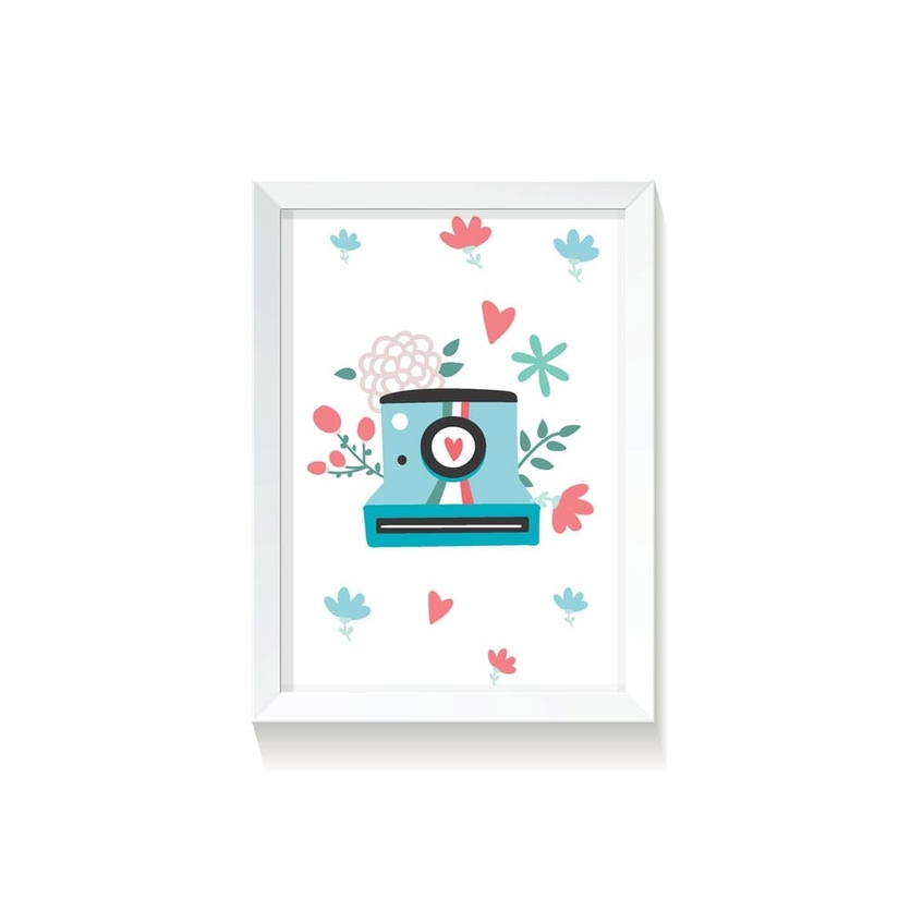"""Plakat na ścianę dla dzieci """"Polaroid III Rabbit Girl"""" 50x70cm do pokoju dziecięcego"""