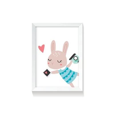 """Plakat na ścianę dla dzieci """"Rabbit Girl I"""" 30x40cm do pokoju dziecięcego"""