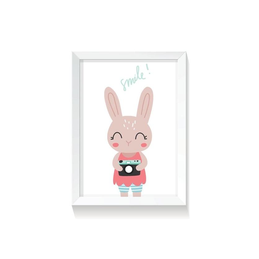 """Plakat na ścianę dla dzieci """"Rabbit Girl II"""" 50x70cm do pokoju dziecięcego"""