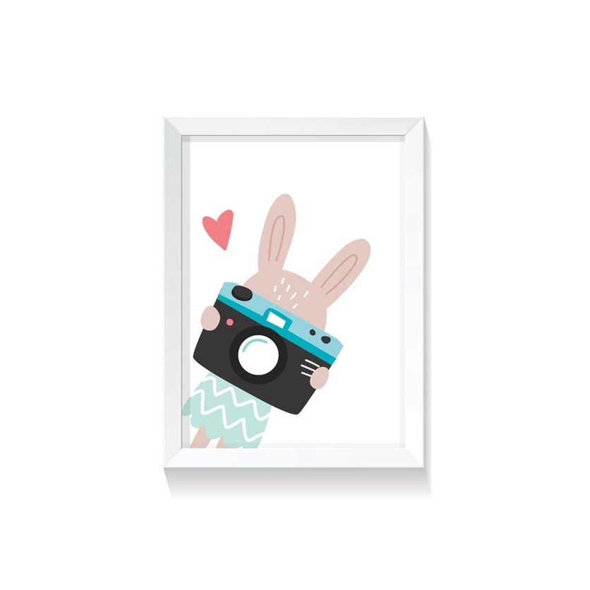 """Plakat na ścianę dla dzieci """"Rabbit Girl III"""" 30x40cm do pokoju dziecięcego"""