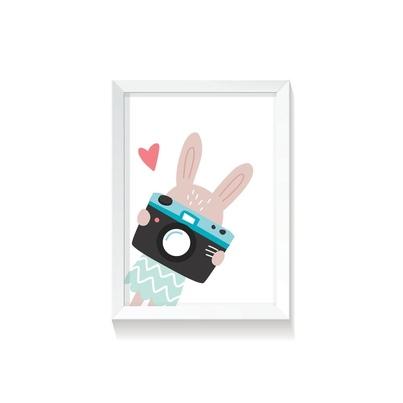 """Plakat na ścianę dla dzieci """"Rabbit Girl III"""" 50x70cm do pokoju dziecięcego"""
