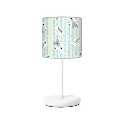 Lampka nocna dla dziecka miętowa Przytul Misia do pokoju dziecięcego