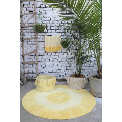 Pastelowy Dywan dziecięcy okrągły 150 - Żółty - Tie-Dye Lorena Canals dla dziewczynki