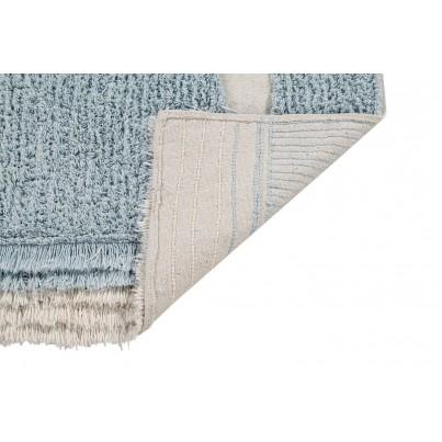 Pastelowy Dywan dziecięcy ocean z rybkami 120x190 - Błękitny - Ocean Shore Lorena Canals dla chłopca