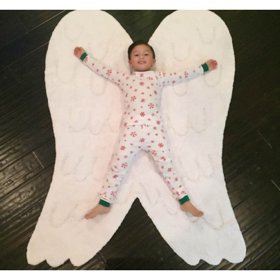 Dywan dziecięcy skrzydła 120x160 - Silueta Alas/Siluette wing Lorena Canals do pokoju dzieci