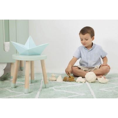 Pastelowy Dywan dziecięcy 120x160 - Miętowy - Hippy Lorena Canals dla chłopca
