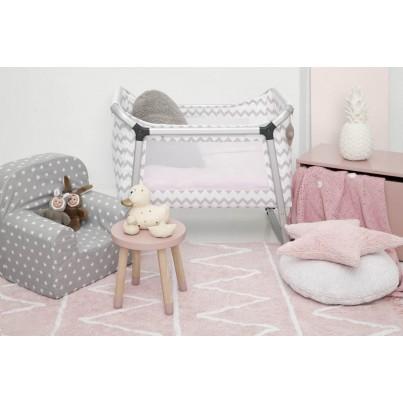 Pastelowy Dywan dziecięcy 120x160 - Różowy - Hippy Lorena Canals dla dziewczynki