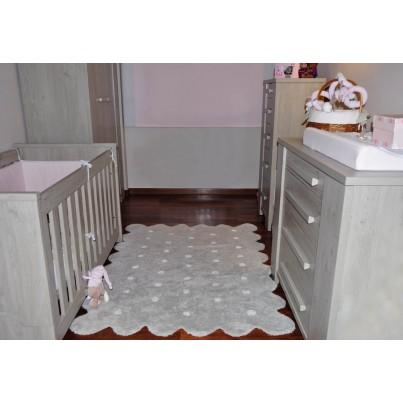 Pastelowy Dywan dziecięcy w kropeczki 120x160 - Szary - Galleta Gris Lorena Canals dla chłopca