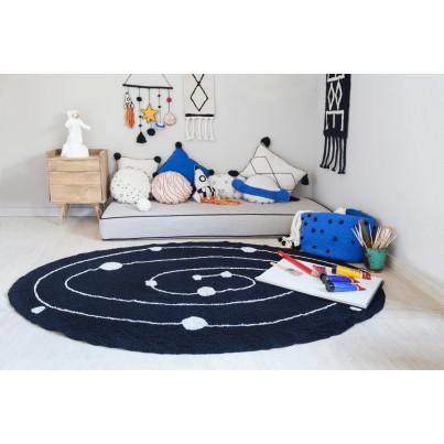 Dywan dziecięcy układ słoneczny 140x200 - Czarny - Milky Way Lorena Canals do pokoju dziecięcego