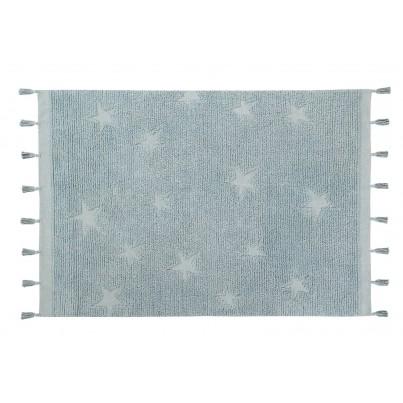 Dywan dziecięcy 120x175 cm gwiazdki - Błękitny - Hippy Stars Aqua Blue Lorena Canals do pokoju dziecka