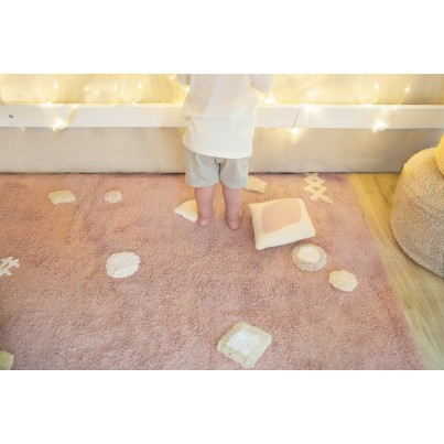 Pastelowy Dywan dziecięcy 140x200 - Różowy - Noah Lorena Canals dla dziewczynki