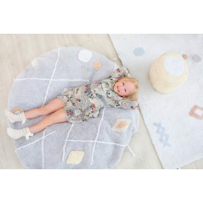 Pastelowy Dywan dziecięcy/Pufa 120 - Szary - Lou Lorena Canals dla chłopca
