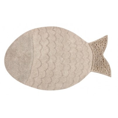 Dywan dziecięcy rybka 110x180 - Beżowy - Big Fish Lorena Canals do pokoju dziecięcego